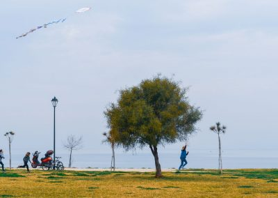 Children Flying Kites - Patras