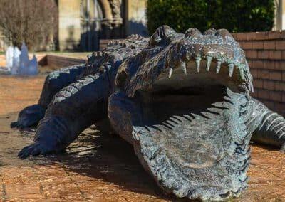 Crocodile Fountain in Vitoria Gastiez