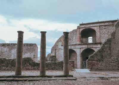 Rined Pillars Pompeii