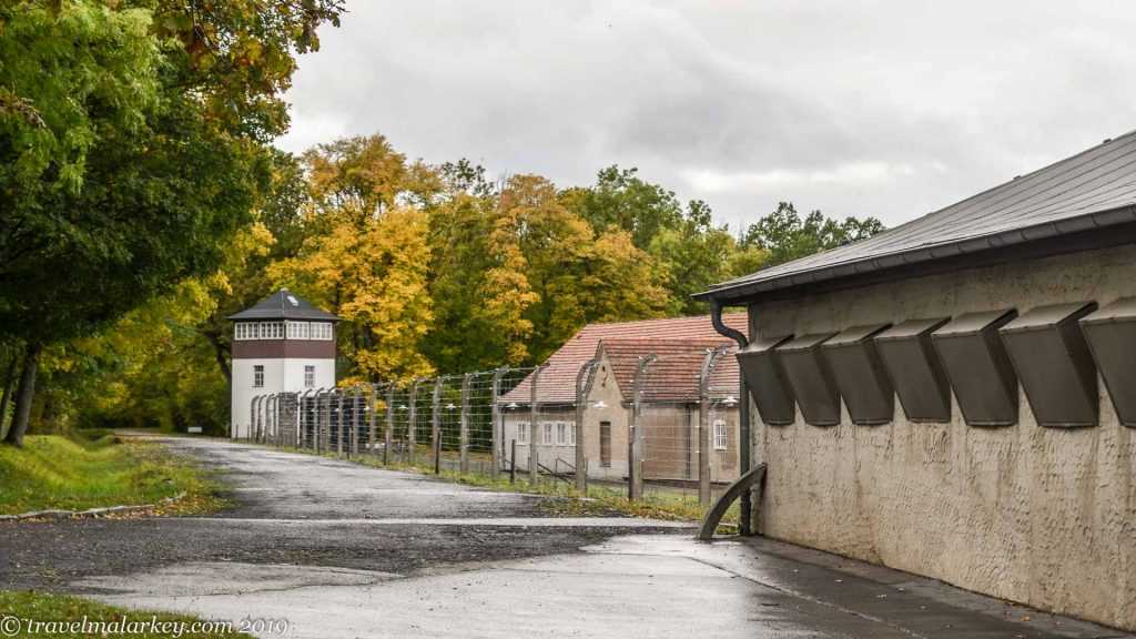 Fence and guard post Buchenwald Concentration Camp