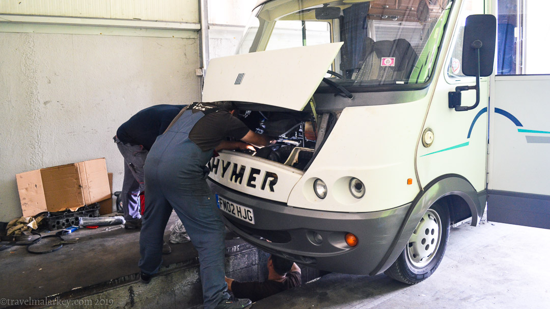 The Hymer fuel pump coming out