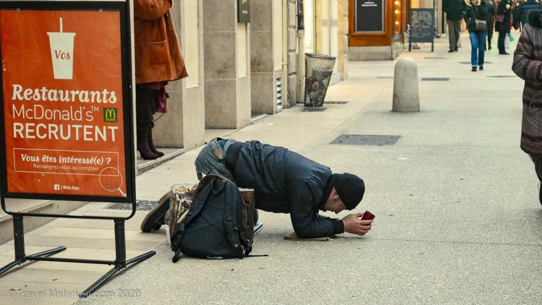 Beggar in Dijon