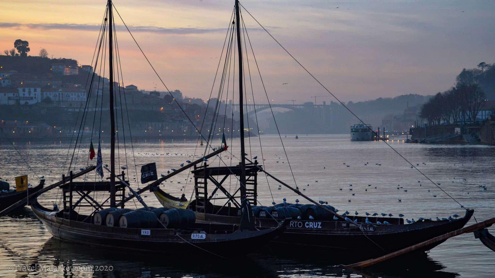 Porto sunset Portugal vanlife Travel Malarkey