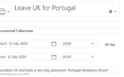 I Have a Plan – Departure Date for Portugal